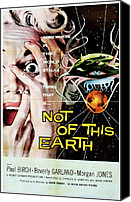 1950s Poster Art Canvas Prints - Not Of This Earth, Beverly Garland Canvas Print by Everett