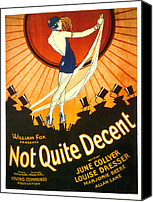 Top Canvas Prints - Not Quite Decent, June Collyer, 1929 Canvas Print by Everett