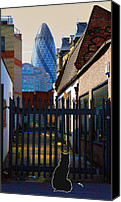 London Skyline Canvas Prints - Not the Top Cat Canvas Print by Jasna Buncic