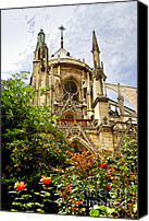 Architecture Photo Canvas Prints - Notre Dame de Paris Canvas Print by Elena Elisseeva