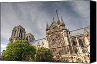 Notre Dame Canvas Prints - Notre Dame de Paris Canvas Print by Jennifer Lyon