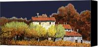 Vineyard  Canvas Prints - Notte In Campagna Canvas Print by Guido Borelli