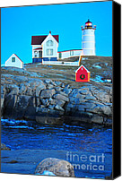 Nubble Light Canvas Prints - Nubble at Twilight Canvas Print by Catherine Reusch  Daley