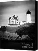 Nubble Light Canvas Prints - Nubble light Canvas Print by Tom Prendergast