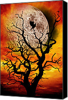 Eerie Canvas Prints - Nuclear Moonrise Canvas Print by Meirion Matthias