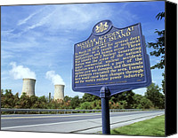 Meltdown Canvas Prints - Nuclear Power Station Accident Plaque Canvas Print by Martin Bond