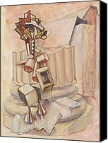 Duchamp Canvas Prints - Nude Ascending a Staircase Canvas Print by Roger Clark
