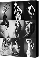 Nudes Canvas Prints - Nude BW Collage  Canvas Print by Falko Follert