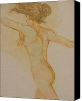 Nude Canvas Prints - Nude Dancer Canvas Print by Gary Kaemmer