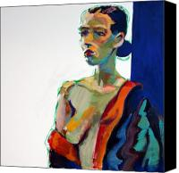 Female Nude Canvas Prints - Nude-J Canvas Print by Piotr Antonow