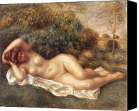 Nudes Canvas Prints - Nude Canvas Print by Pierre Auguste Renoir
