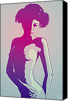 Wars Canvas Prints - Nude Princess Leia Canvas Print by Giuseppe Cristiano