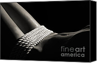 Bondage Canvas Prints - Nude Woman Body and Ropes Canvas Print by Oleksiy Maksymenko