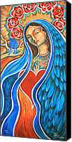 Virgen De Guadalupe Canvas Prints - Nuestra Senora Maestosa Canvas Print by Shiloh Sophia McCloud