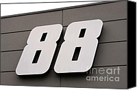 Racing Number Canvas Prints - Number 88 Canvas Print by Karol  Livote