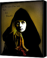 Nun Canvas Prints - Nun So Beautiful Canvas Print by Steven  Digman