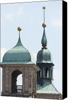 Rathaus Photo Canvas Prints - Nuremberg town hall spires Canvas Print by Andrew  Michael