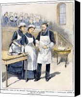 Medical School Canvas Prints - Nursing School, 1885 Canvas Print by Granger