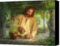 Feed Canvas Prints - Nurtured by the Word Canvas Print by Greg Olsen