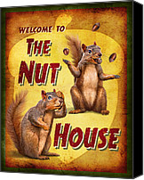 Crazy Canvas Prints - Nuthouse Canvas Print by JQ Licensing