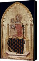 Enthroned Canvas Prints - Nuzi: Madonna And Child Canvas Print by Granger