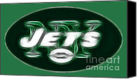 Sports Art Canvas Prints - NY JETS fantasy Canvas Print by Paul Ward