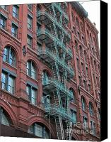Nyc Fire Escapes Canvas Prints - NYC Architecture 1 Canvas Print by Randi Shenkman