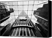 Bw Canvas Prints - NYC Big Apple Canvas Print by Nina Papiorek