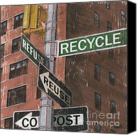Brick Canvas Prints - NYC Broadway 1 Canvas Print by Debbie DeWitt