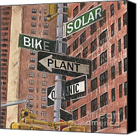 Brick Canvas Prints - NYC Broadway 2 Canvas Print by Debbie DeWitt