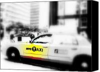 Taxi Canvas Prints - NYC Cab Canvas Print by Funkpix Photo  Hunter