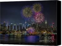 The City That Never Sleeps Canvas Prints - NYC Celebrates Fleet Week Canvas Print by Susan Candelario