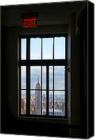 Nyc Photo Canvas Prints - Nyc Exit Canvas Print by Nina Papiorek