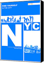Nyc Canvas Prints - NYC Find yourself in the city Canvas Print by Irina  March