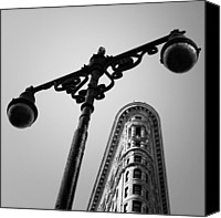 Nina Photo Canvas Prints - NYC Flat Iron Canvas Print by Nina Papiorek