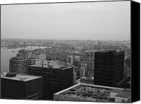 Nyc Photo Canvas Prints - NYC from the Top 2 Canvas Print by Irina  March