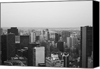 Nyc Photo Canvas Prints - NYC from the Top 3 Canvas Print by Irina  March