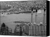 Nyc Photo Canvas Prints - NYC from the Top 4 Canvas Print by Irina  March