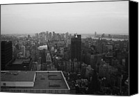 Nyc Photo Canvas Prints - NYC from the Top 5 Canvas Print by Irina  March