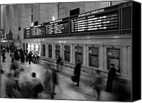 Urban Landscape Canvas Prints - NYC Grand Central Station Canvas Print by Nina Papiorek