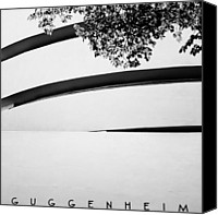 Guggenheim Canvas Prints - NYC Guggenheim Canvas Print by Nina Papiorek
