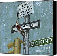 Change Painting Canvas Prints - NYC Inspiration 1 Canvas Print by Debbie DeWitt