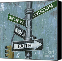 Signs Canvas Prints - NYC Inspiration 2 Canvas Print by Debbie DeWitt