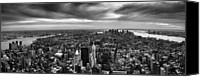 Urban Landscape Canvas Prints - NYC Manhattan Panorama Canvas Print by Nina Papiorek