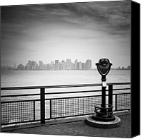 Bw Canvas Prints - NYC Manhattan View Canvas Print by Nina Papiorek