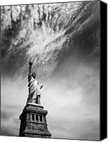 Taxi Canvas Prints - NYC Miss Liberty Canvas Print by Nina Papiorek