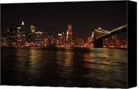 Empire Photo Canvas Prints - NYC Night Canvas Print by Maria Lopez
