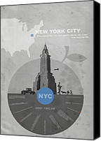 Nyc Canvas Prints - NYC Poster Canvas Print by Irina  March