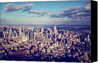Empire Photo Canvas Prints - NYC Sky View Canvas Print by Ariane Moshayedi