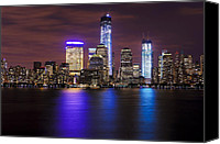 Nyc Canvas Prints - NYC Skyline and the Freedom Tower Canvas Print by Vicki Jauron